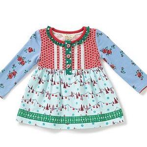 Matilda Jane Red/Green/Blue Floral Babydoll Tunic